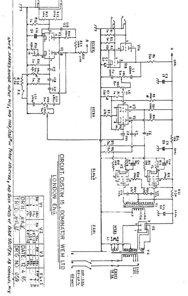 18watt schematics etc watkins dominator reputedly the source of inspiration for the original 18watt circuit
