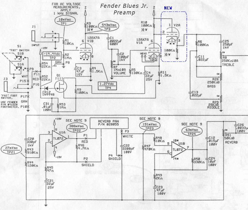 Fender Blues Junior Wiring Diagram - Wiring Diagrams Word on