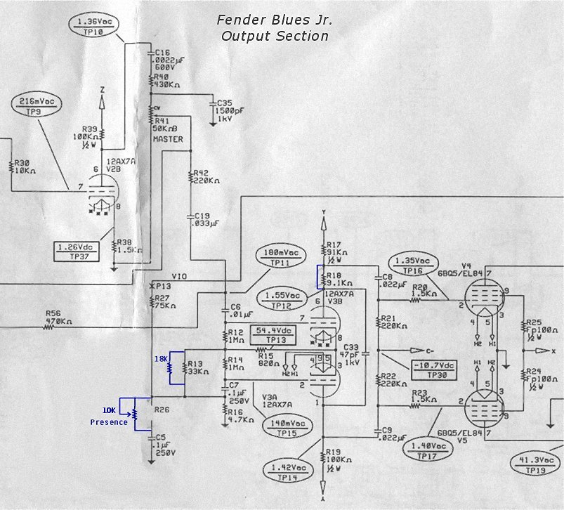 A Mod for the Fender Blues Jr. Fender Pro Junior Schematic on